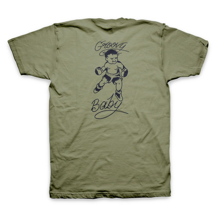 Image of Groovy Lando Signature Tee Men's *Military Green