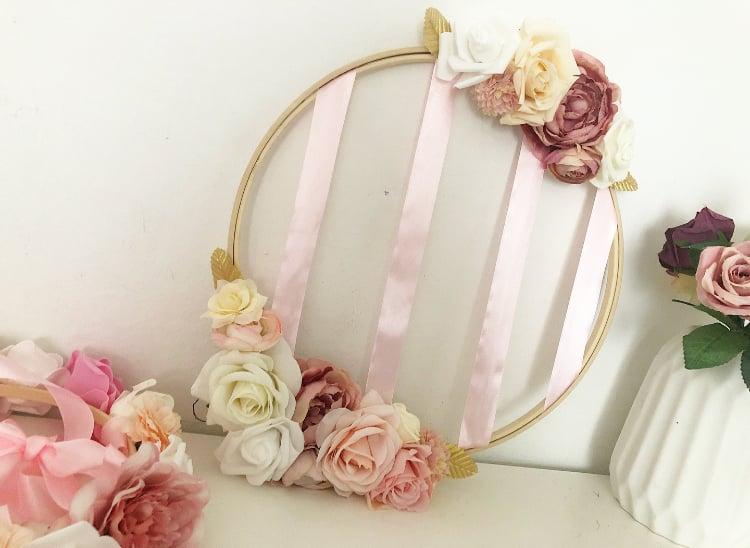 Image of Porte barrette fleuri 40cm