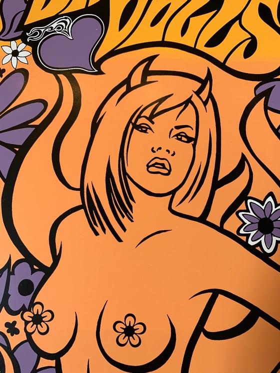 Image of Dangerous Dolls hand silkscreened poster