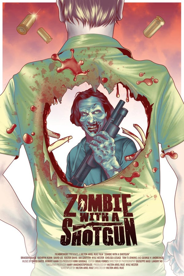 Image of Zombie with a Shotgun Official Movie Poster ~ Signed and printed on 17x22 Photo