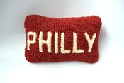 Image of Philly Hooked Wool Pillow