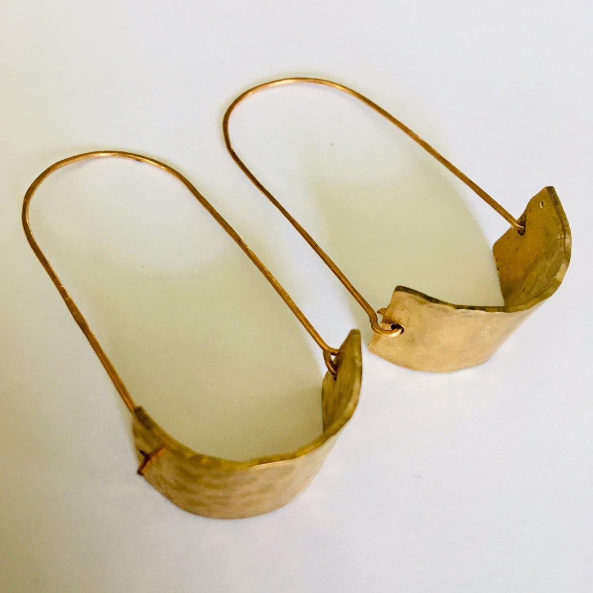 Image of Hammered Brass Mid-Mod Swings
