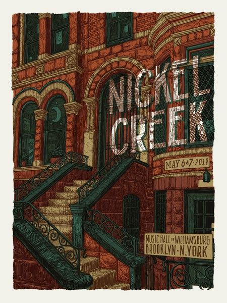 "Image of Nickel Creek (Brooklyn, NY) • L.E. Official Poster (18"" x 24"")"