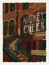 "Nickel Creek (Brooklyn, NY) • L.E. Official Poster (18"" x 24"")"