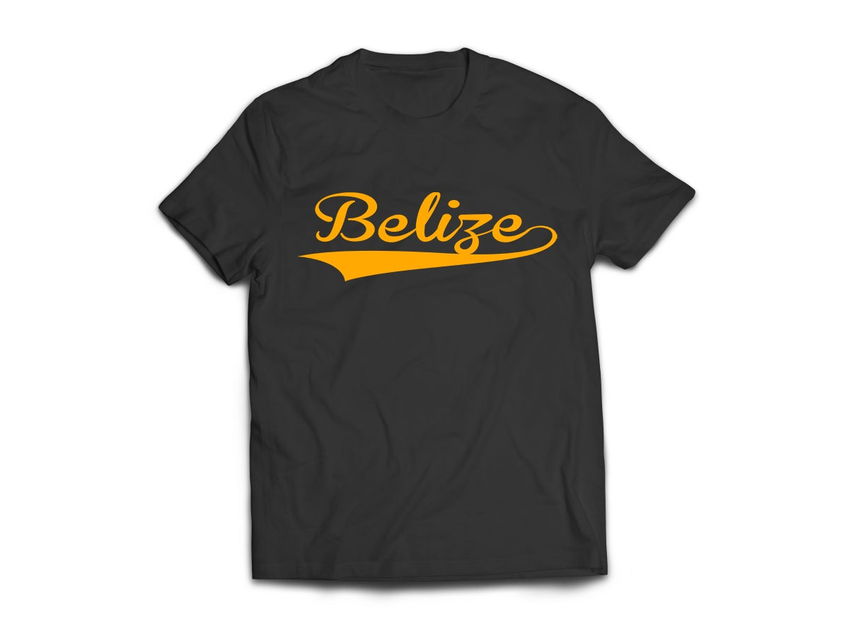 Image of Belize - T-Shirt - Black/Yellow Gold