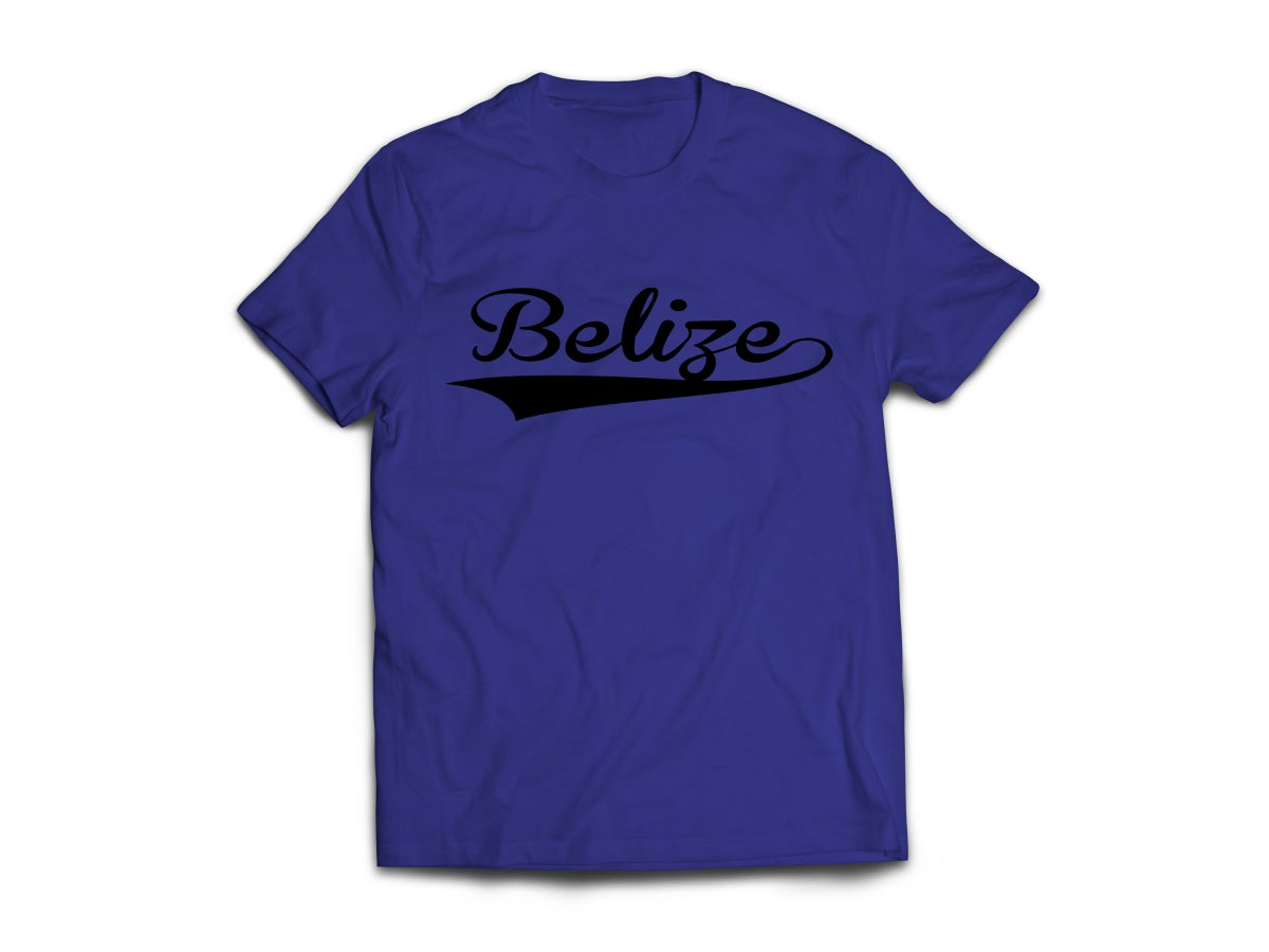 Image of Belize - T-Shirt - Navy Blue/Black