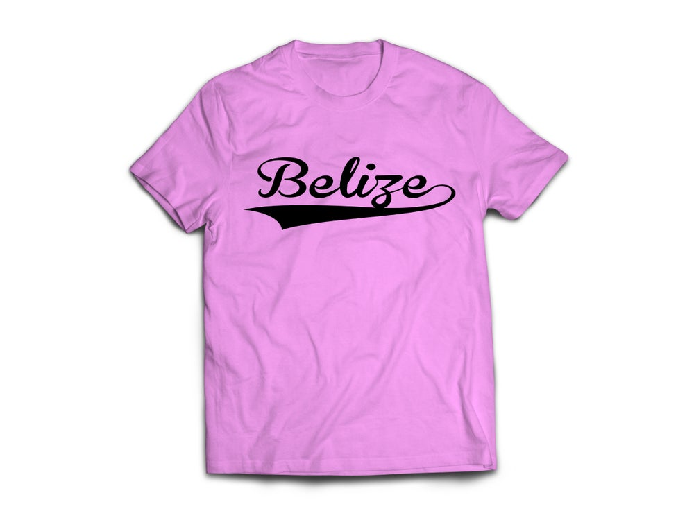 Image of Belize - T-Shirt - Pink/Black