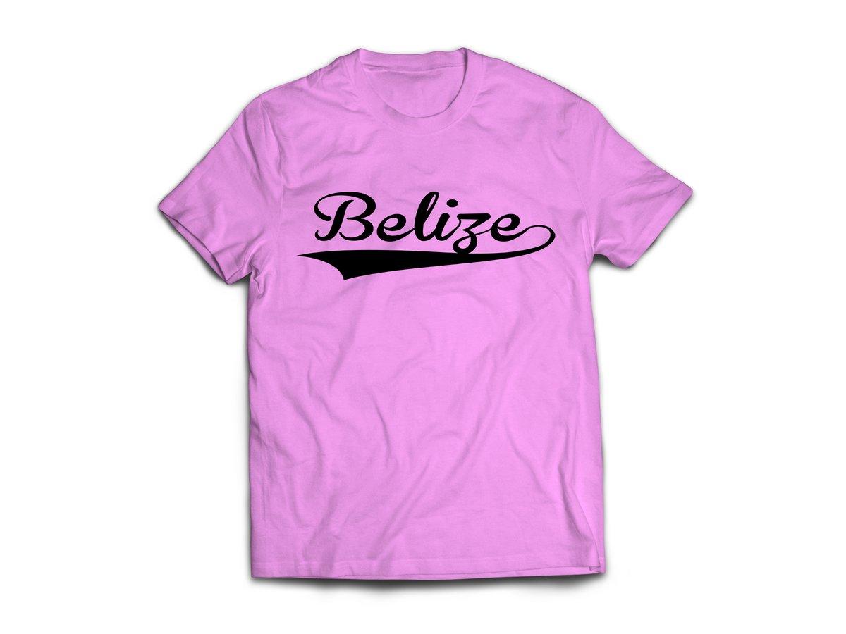 Image of Belize - T-Shirt - Pink/Black