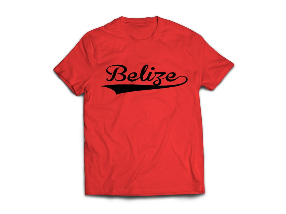 Image of Belize - T-Shirt - Red/Black