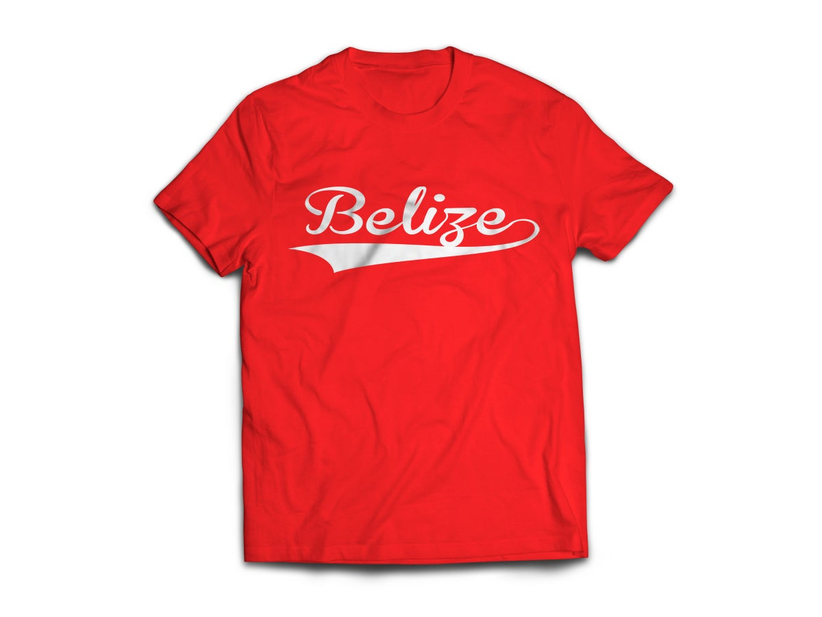 Image of Belize - T-Shirt - Red/White