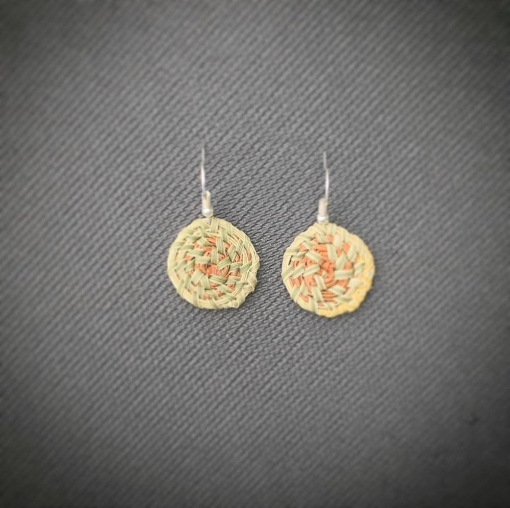 "Image of ""Petite"" Pine Needle & Sweetgrass Earrings"