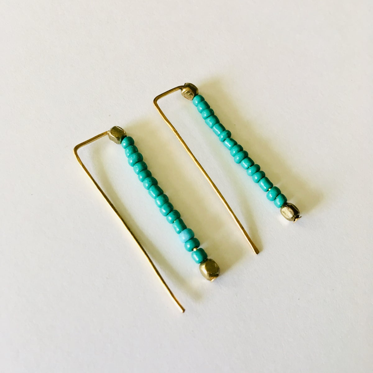 Image of Seed bead Staples Earrings