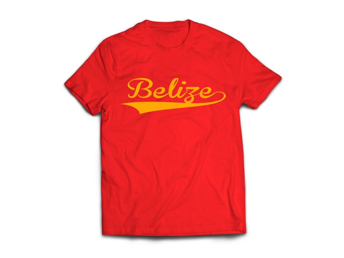 Image of Belize - T-Shirt - Red/Yellow Gold