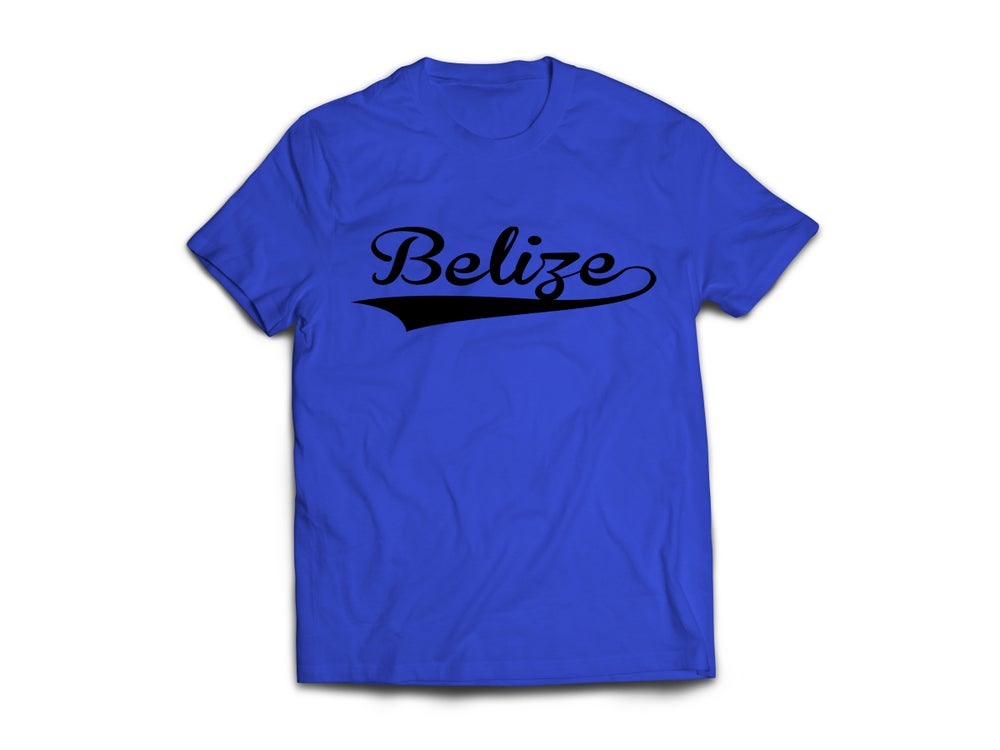 Image of Belize - T-Shirt - Royal Blue/Black