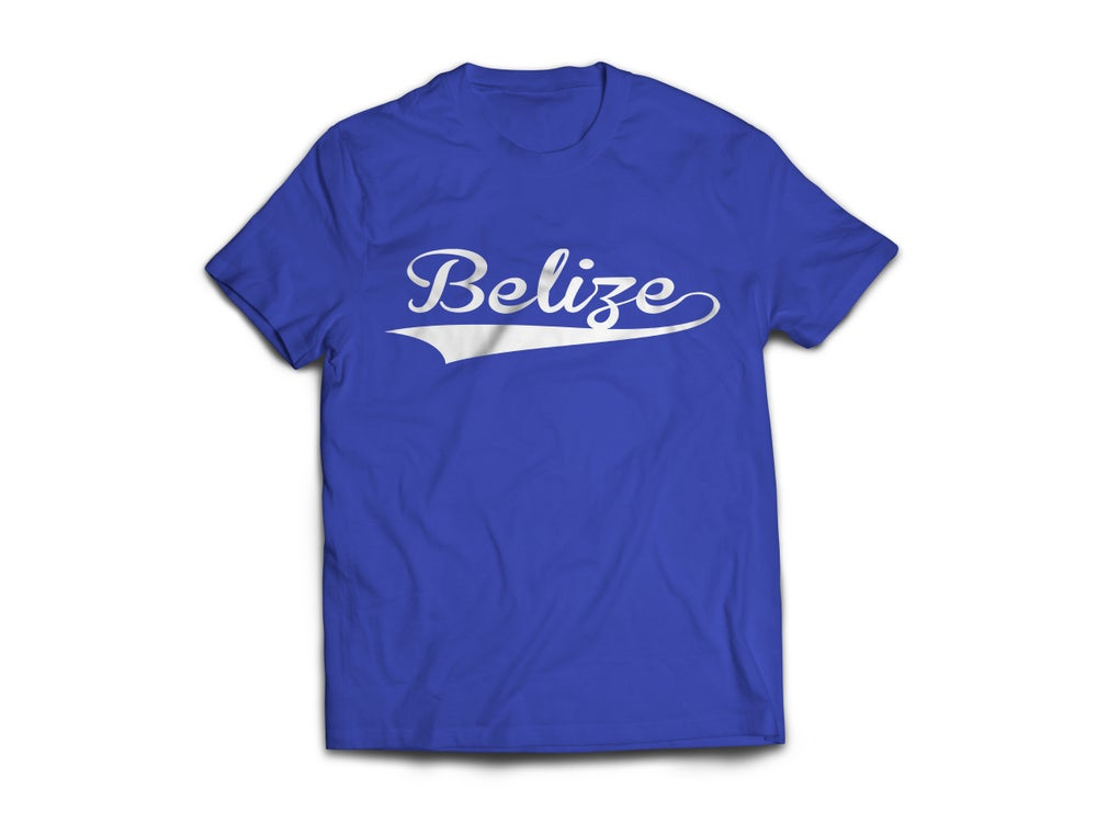 Image of Belize - T-Shirt - Royal Blue/White