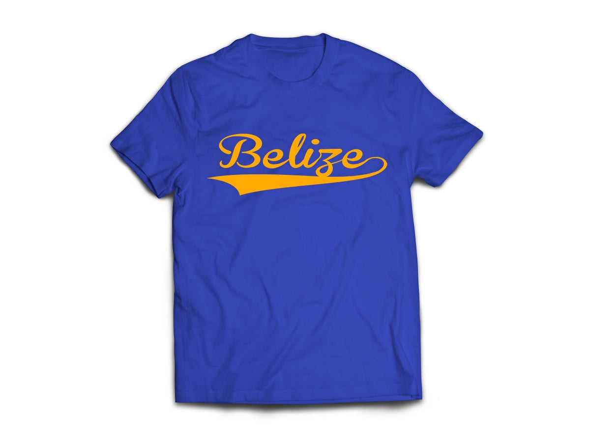 Image of Belize - T-Shirt - Royal Blue/Yellow Gold