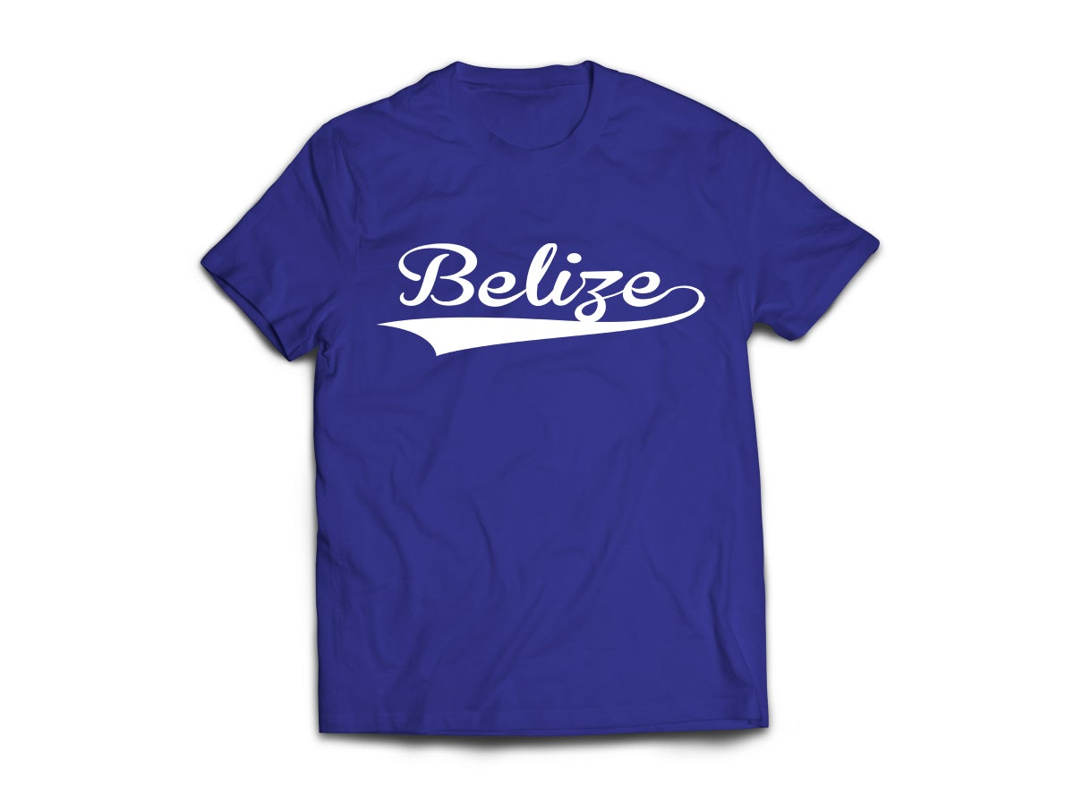 Image of Belize - T-Shirt - Navy Blue/White