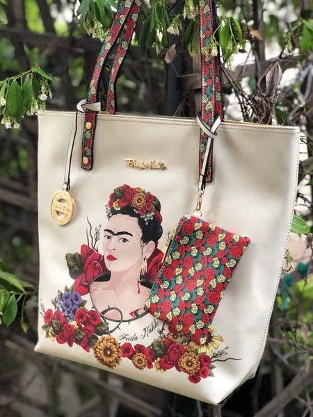 Image of Floral-Tote bag