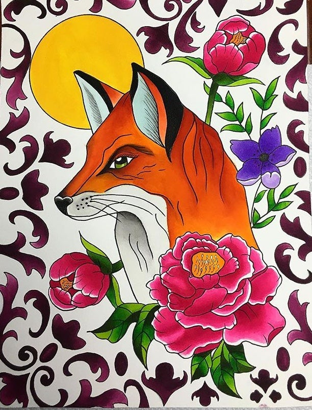 Image of Floral fox