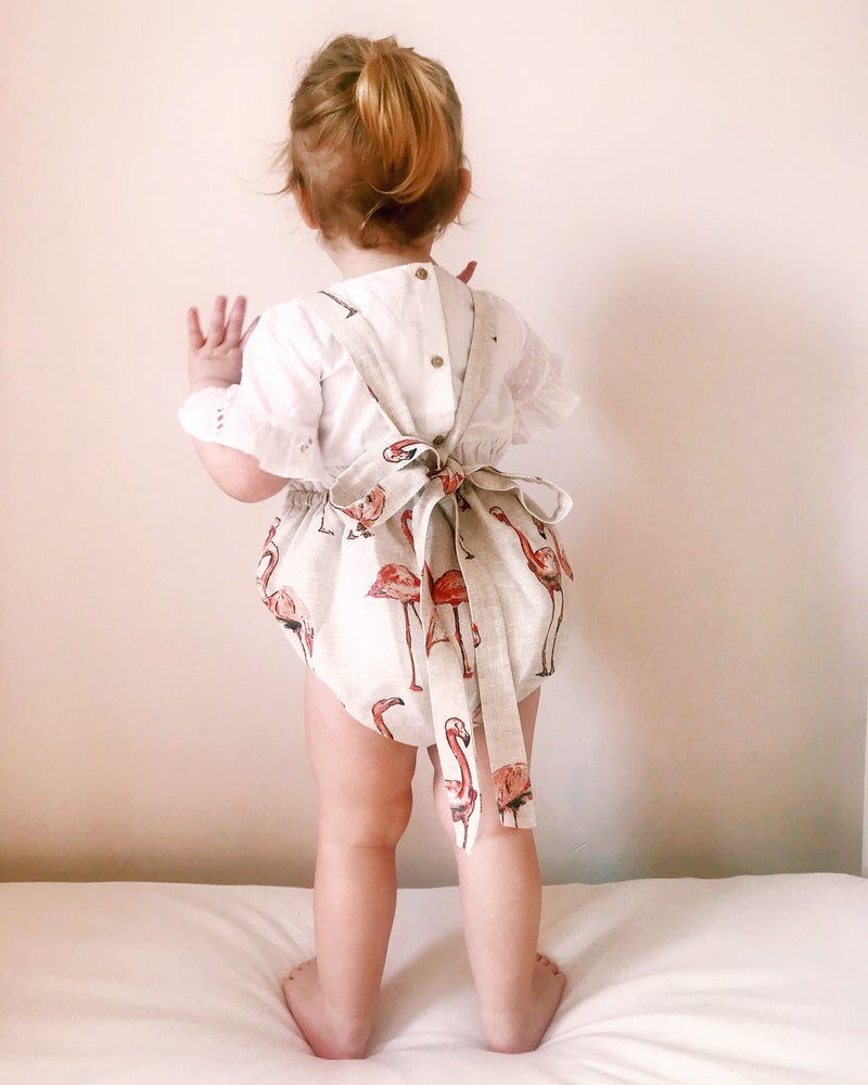 Image of Vintage Flamingo Romper
