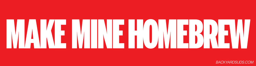 Image of Make Mine Homebrew bumper sticker