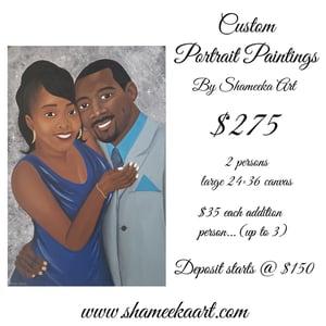 Image of Deposit for 24x36 Custom Portrait Painting