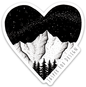 Image of For The Love of Mountains Sticker