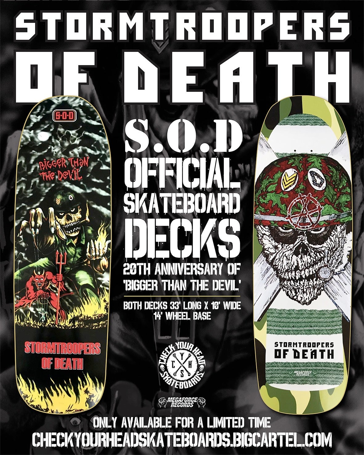 Image of S.O.D. Speak English Or Die Skateboard
