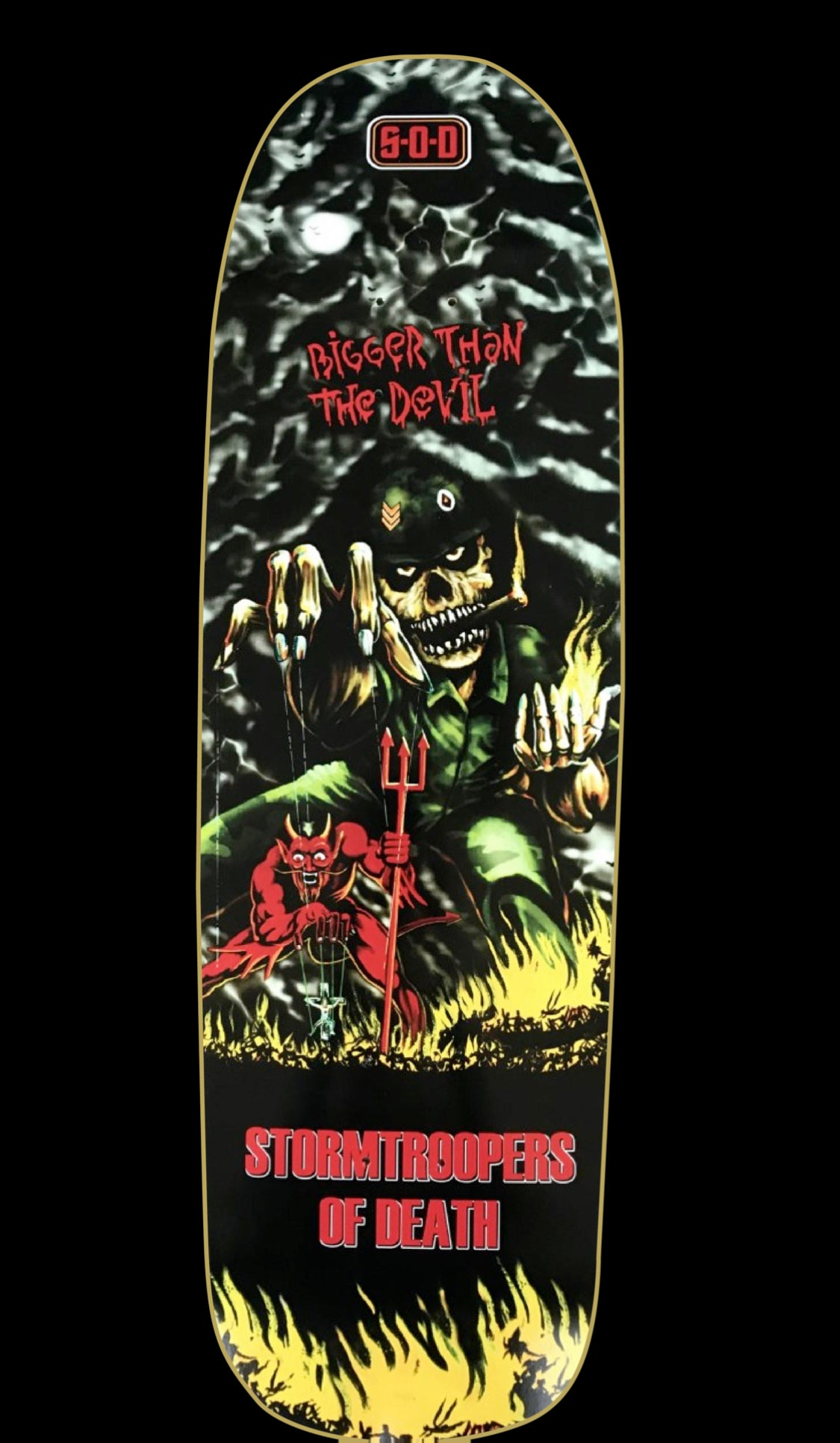 Image of S.O.D. Bigger Than The Devil Skateboard