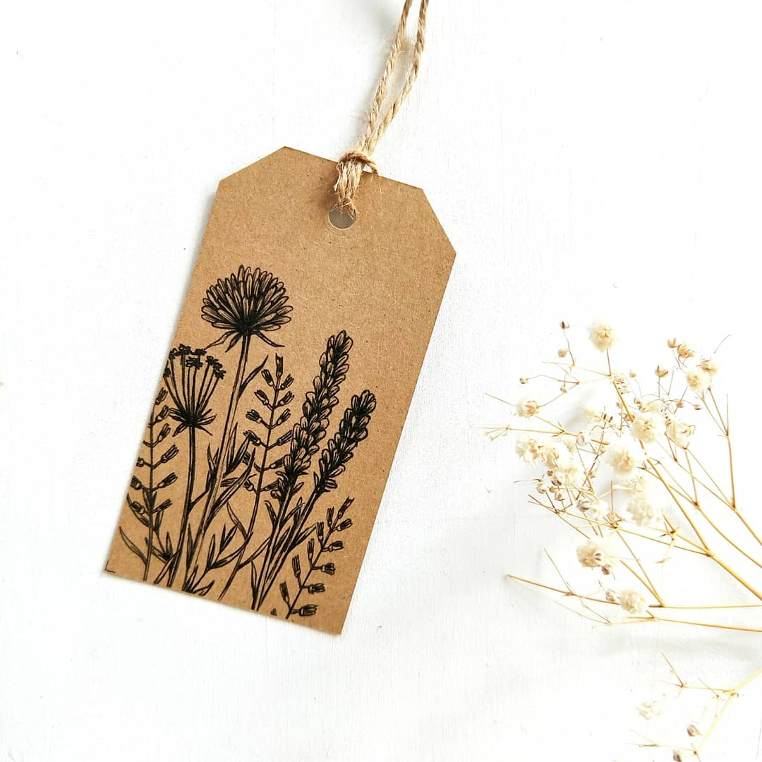 Image of GIFT TAG SET - Wildflower Collection