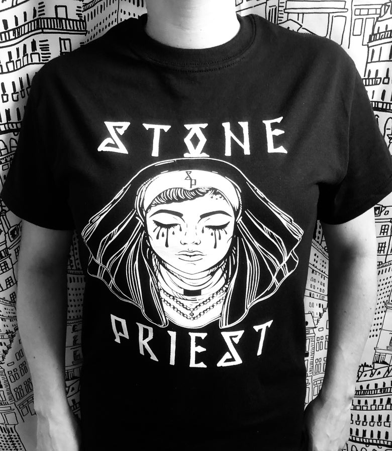 "Image of Stone Priest - ""Mourning Nun"" T-shirt"
