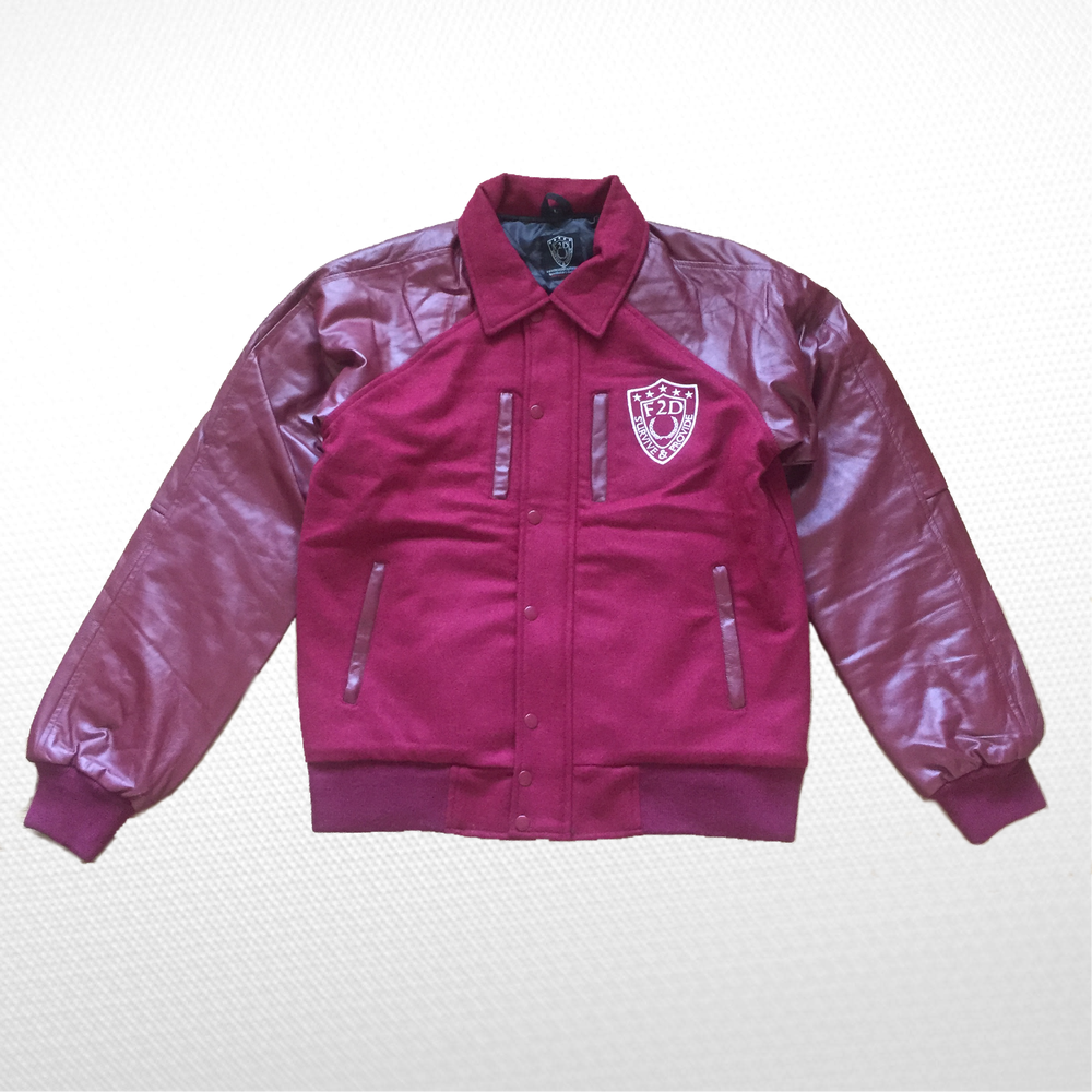 Image of HALF LEATHER STADIUM JACKET