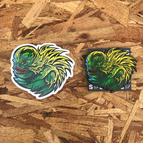 Image of The Creature Lives by Fracturize (Pin + Sticker)