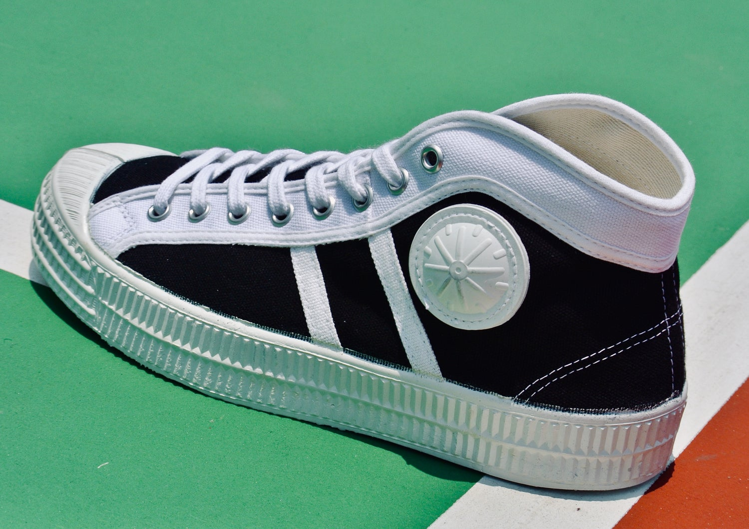 Image of Vegancraft hi top canvas sneaker shoes made in Slovakia