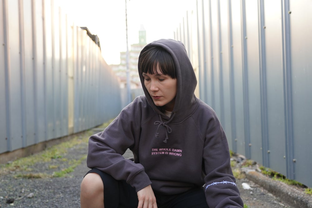 The Whole Damn System Hoodie (Charcoal)