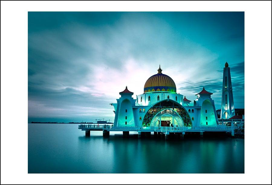 Image of Melaka Straits Mosque - Rag Metallic - Edition of 30