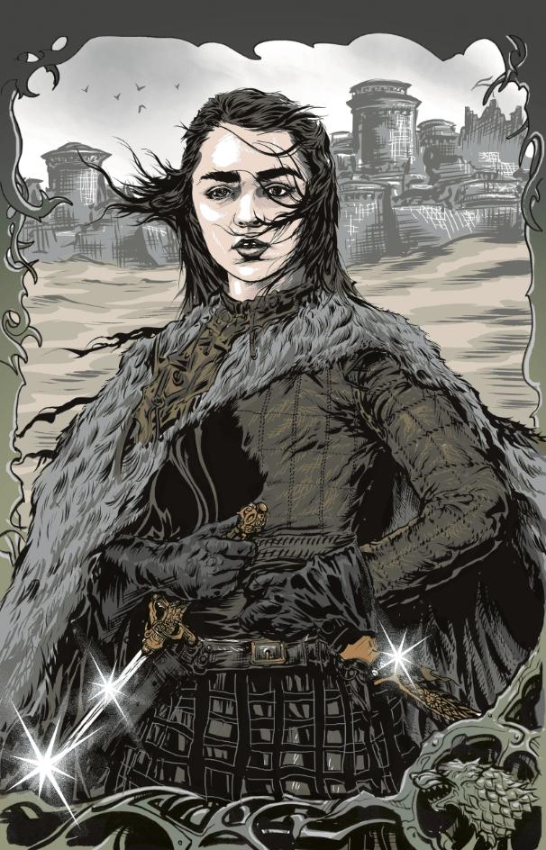 Image of ARYA of winterfell 11X17 inch PRINT