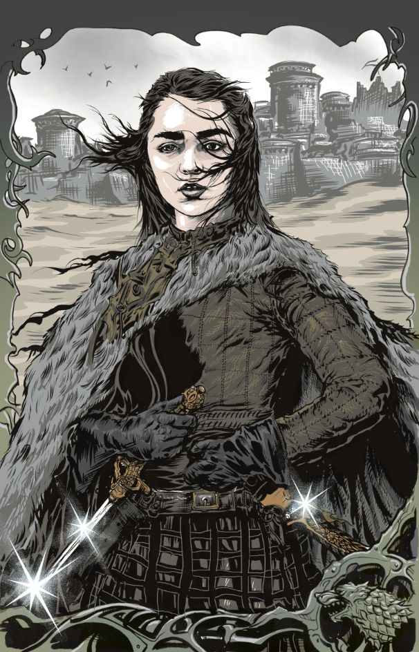 Image of ARYA of winterfell 11X17 inch PRINT