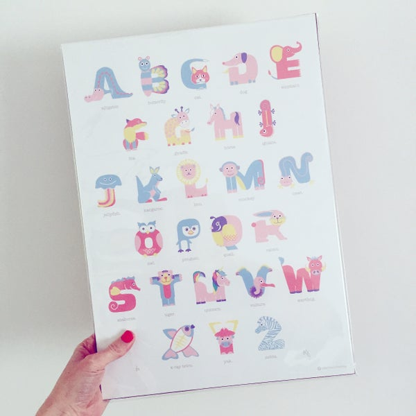 Image of Limited Edition Unicorn Animal Alphabet Print