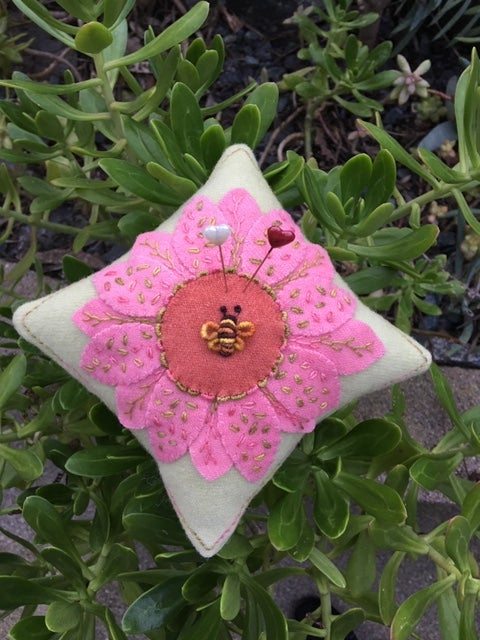 Image of Summer's Day Flower Pin Cushion Kit