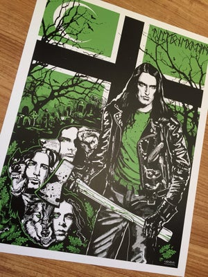 Image of Type O Negative tribute poster - silkscreen hand signed and numbered 18x24 or 11x14