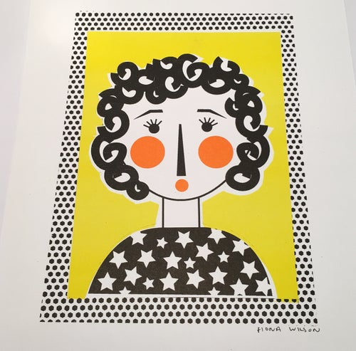 Image of A4 Riso Print - Curly Girl