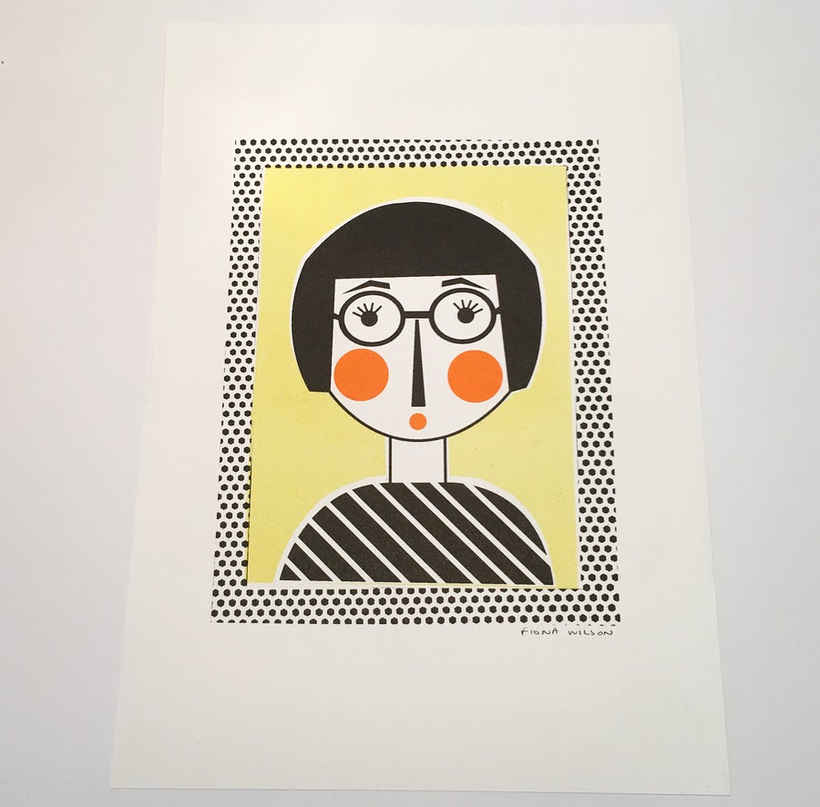 Image of A4 Riso Print - Lashes Lady