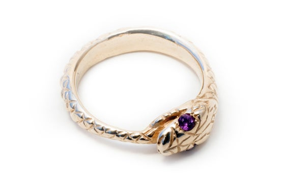Image of 10k Gold Ouroboros Ring