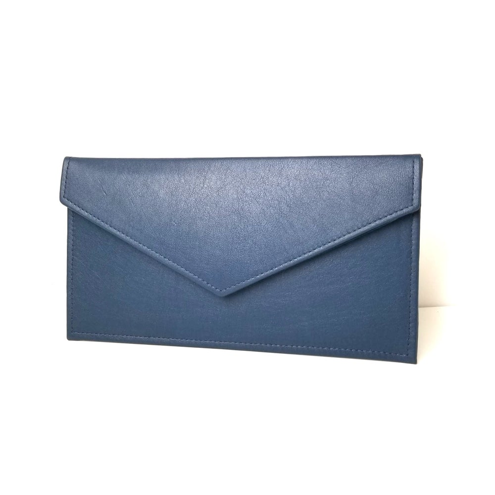 Image of Blue Envelope Clutch