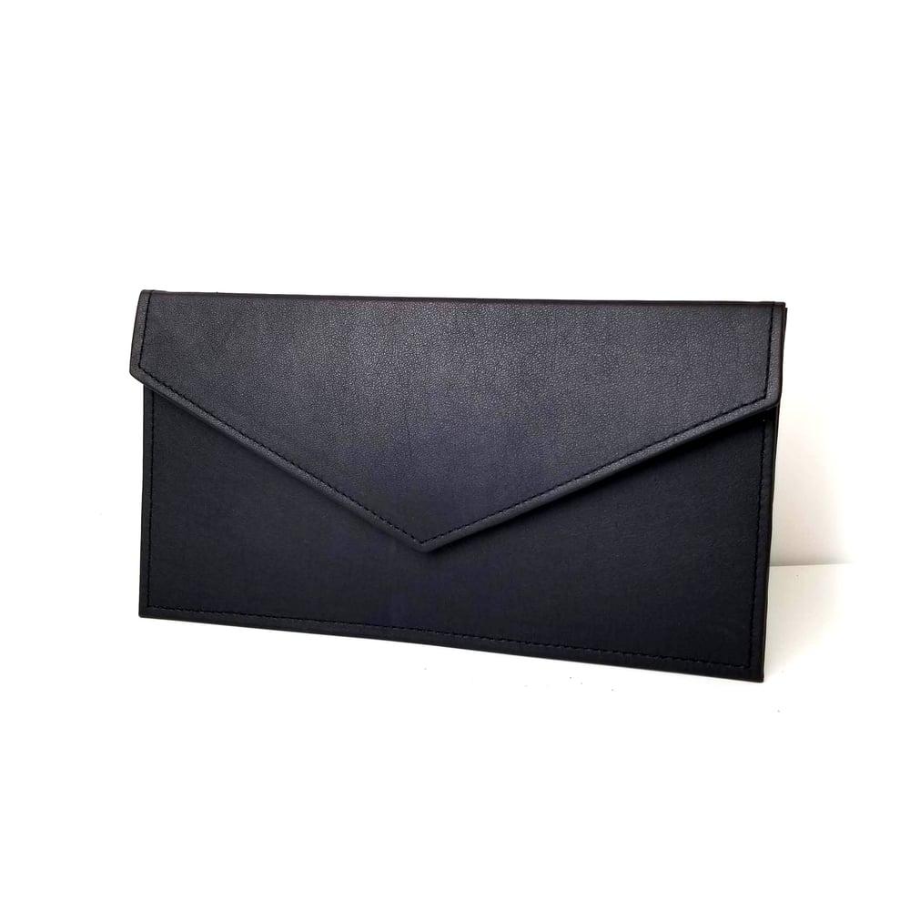 Image of Black Envelope Clutch
