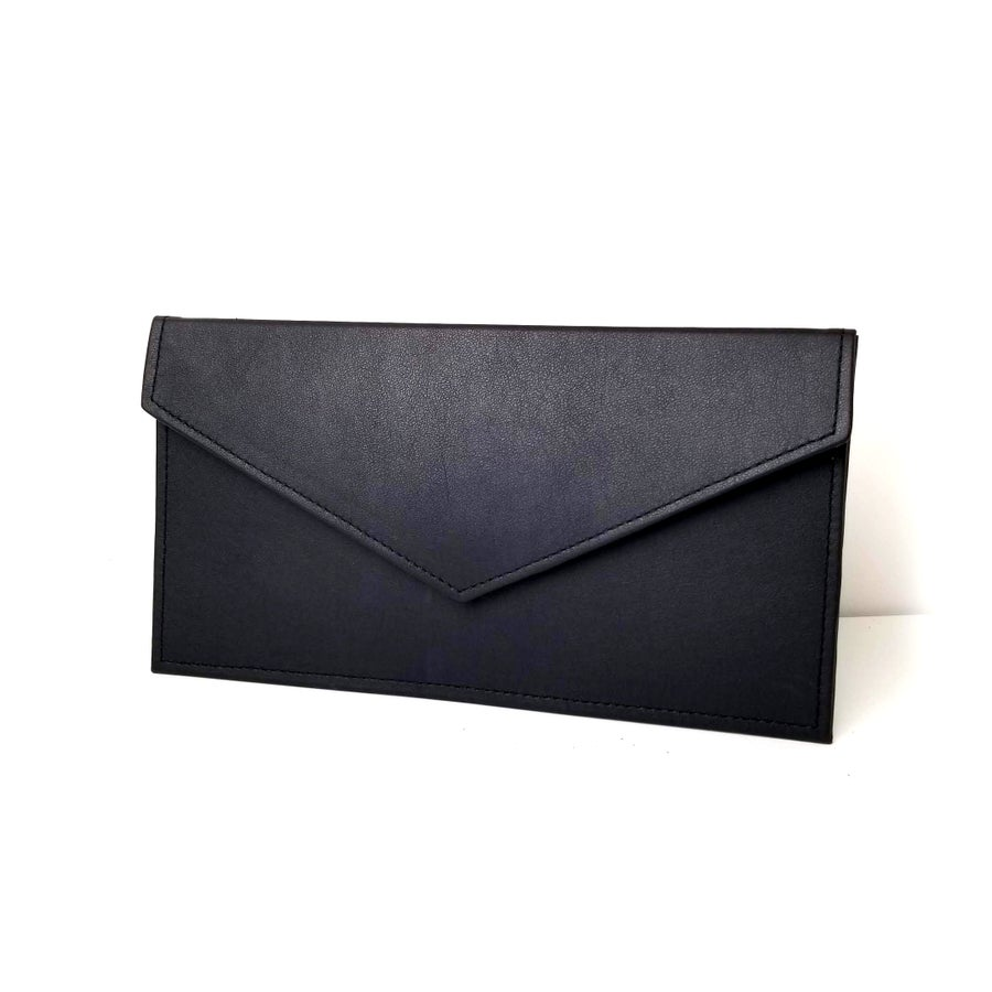 Image of Black Envelope Clutch