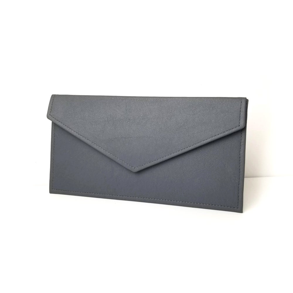 Image of Grey Envelope Clutch