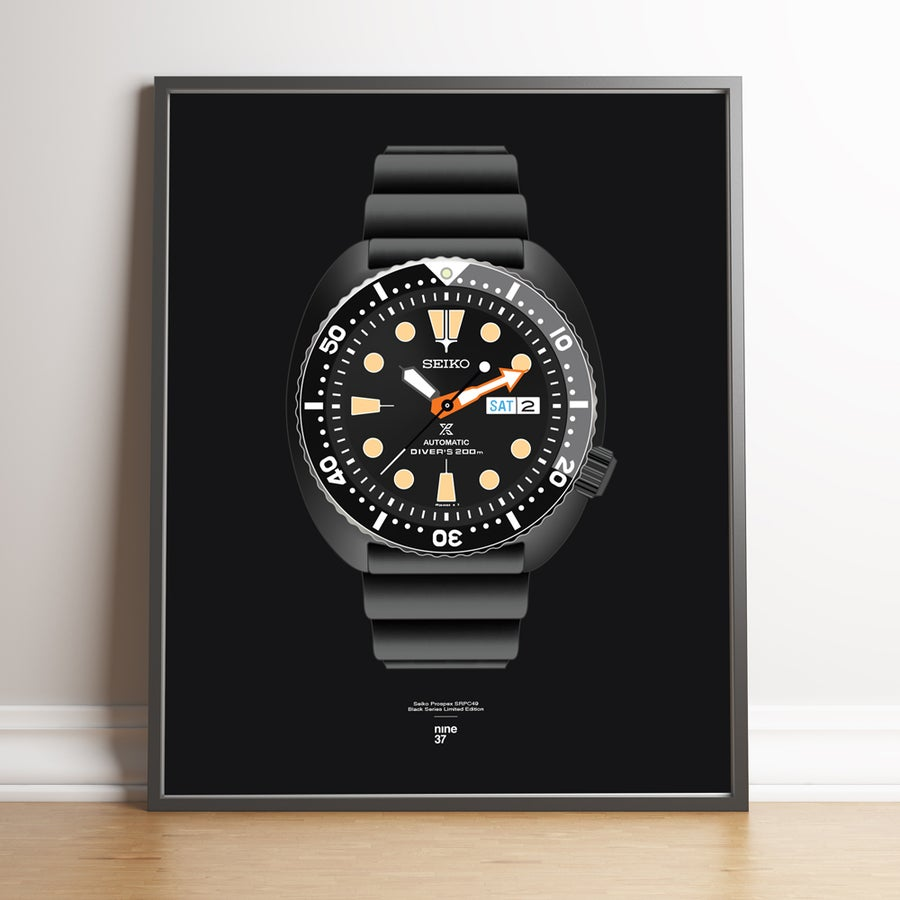 "Image of Seiko SRPC49 ""Black Series"" Rubber Strap Print"