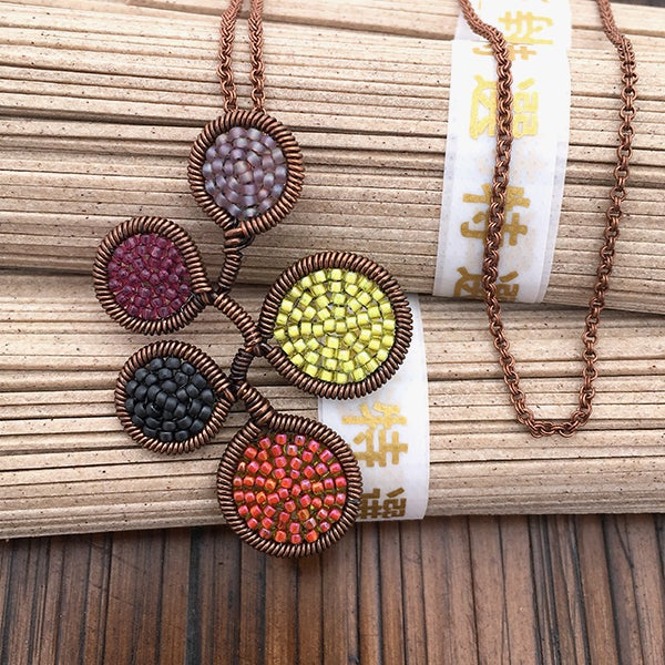 Image of 5 dot Necklace in Night Harvest